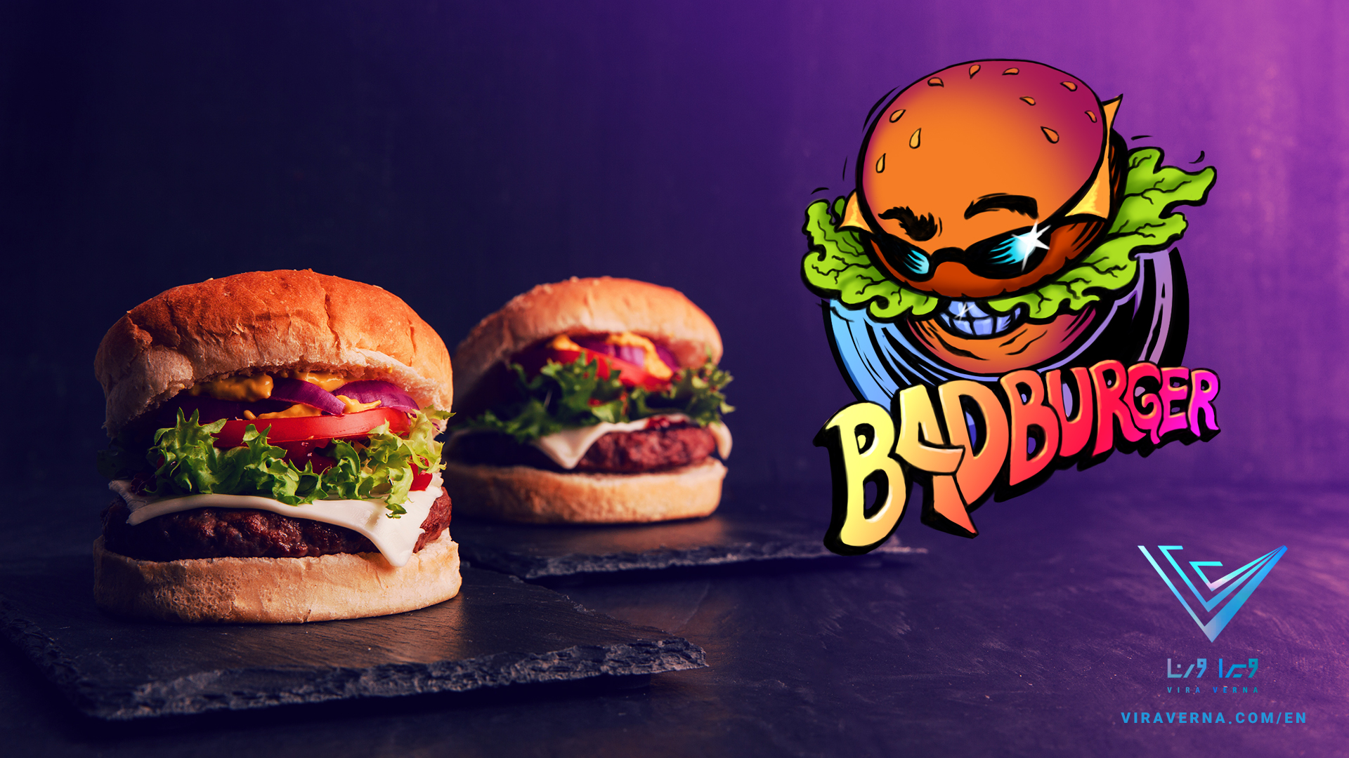 Logo design and branding for Bad Burger fast food